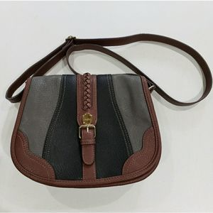 b.o.c. Saddle Crossbody Handbag Brown Black Gray